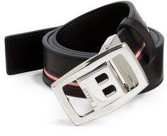 Bally Reversible Leather Belt in Black for Men $250
