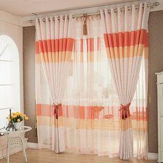 fancy chic geometric pattern polycotton blend fabric privacy modern curtain