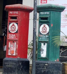 Sri Lanka Post boxes by Bridgemarker Tim, via Flickr Sri Lanka, Antique Mailbox, You've Got Mail, Mail Boxes, Going Postal, Red Bus, Post Box, Post Office, Letter Boxes