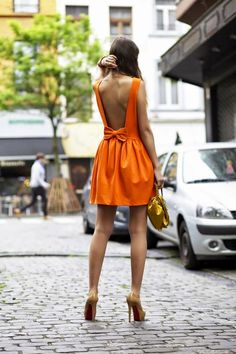 Mode - style Low back dress Robes dos nu Outfits Casual, Cute Summer Outfits, Cute Outfits, Summer Dresses, Party Outfits, Dresses 2014, Summer Clothes, Stylish Dresses, Fashion Dresses