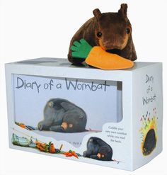 Diary of a Wombat - wonderful book and plush toy combo!