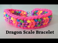 Loom bands DOUBLE CAPPED DRAGON SCALE Rainbow Loom tutorial l JasmineStarler - YouTube