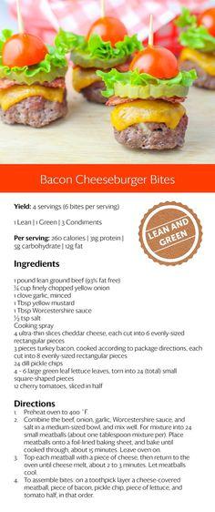 Bacon cheeseburger bites