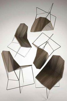 Es tendencia en decoración: muebles geométricos #tendencias #decoracion #sillas
