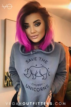 Every purchase feeds a rescued farm animal 🐮💚 Hot Goth Girls, Vegan Clothing, Funky Hairstyles, Alternative Outfits, Cropped Hoodie, Hair Goals, New Hair, Dress To Impress, Hair