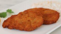 Rántott szűzpecsenye recept. Készíts te is egy jó rántott szűzérmét! Recept képekkel, érthető, részletes leírással és pontos mennyiségekkel. Wok, Chicken, Meat, Ethnic Recipes, Cubs