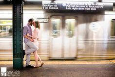 NYC subway engagement session