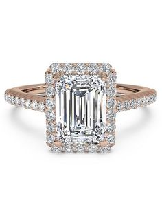 Ritani Elegant Emerald Cut Engagement Ring