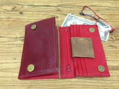 Check out Sale!!! Women Leather Wallet red women's leather wallet burgundy, red, brown Wallet for woman purse wallet on plgdesigns