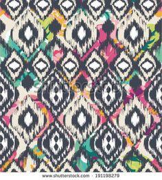 seamless ethnic  vector print pattern by SalomeNJ, via Shutterstock