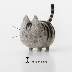 woonya【american】 猫/cat/羊毛フェルト/Needle Felting