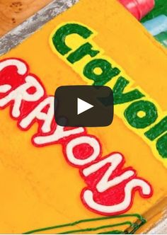 How to make the coolest Crayola Crayons cake you've ever seen!