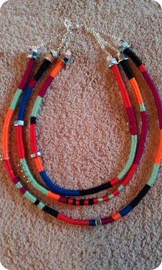 DIY Tribal Necklace tutorial