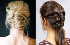 enkla håruppsättningar som snabbt ger en vacker frisyr