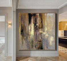 Malerei Large Acrylic Painting Gold Painting Office Painting Texture Art Lots Texture Abstract Original Paintings On Canvas Painting Gold Wall Art Abstract Canvas, Wall Canvas, Canvas Art, Blue Abstract, Painting Abstract, Texture Art, Texture Painting, Large Painting, Easy Paintings