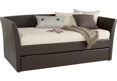 Brianne Brown Daybed.349.99. 84L x 42W x 36H. Find affordable Beds for your home that will complement the rest of your furniture. #iSofa #roomstogo