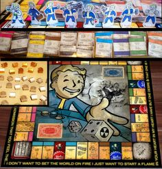 Fallout : Amazing incredible fallout monopol handmade game , nuka cola.