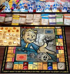 Fallout : Amazing incredible fallout monopol handmade game , nuka cola.