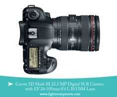 WIN!! Back To School Canon EOS 5D Mark III + 24-105mm Lens Giveaway ($4,199 Value) | Pretty Presets for Lightroom