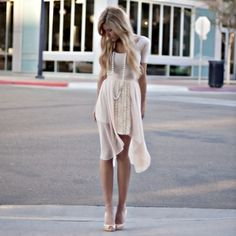 Soft Cream perfect summer day outfit.