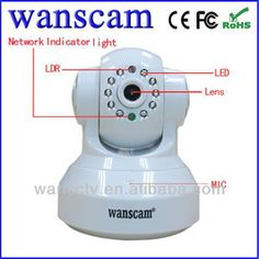 Wireless Security Wifi Motion Detection IP Camera With P2P SD Recording Card