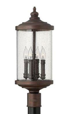Hampton Bay Waterton 1 Light Dark Ridge Bronze Outdoor Post Mount Lantern Home The O 39 Jays And