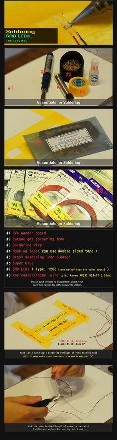 :: KenzBuilds: Soldering SMD LEDs (The Easy Way)