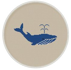 Whale Cross Stitch Pattern Instant Download by MagicCrossStitch