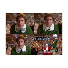Top 'Buddy The Elf' Quotes Which is Your Favorite? ❤ liked on Polyvore