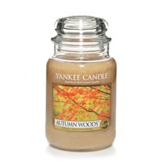 Autumn Woods™ Yankee Candle Company Large Jar Candle - A rich palette of warm aromas . . . Cedar and sandalwood accented with cloves, cinnamon, musk, and roses.
