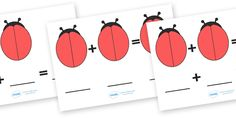 Twinkl Resources >> Blank Ladybird Number Sentence Sheets  >> Classroom printables for Pre-School, Kindergarten, Primary School and beyond! addition, subtraction, number sheets, numeracy, counting, numbers, number sheets, ladybirds spots, ladybird spots addition sheets, put the spots on the ladybirds, lady bird, adding,