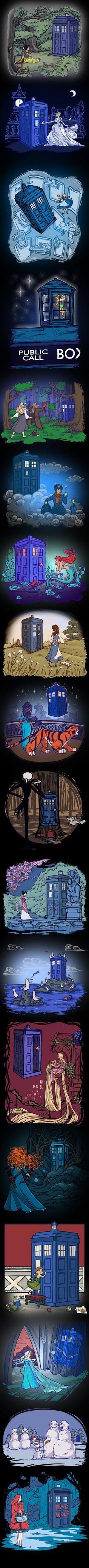 Karen Hallion Disney  Doctor Who mashups on TeeFury