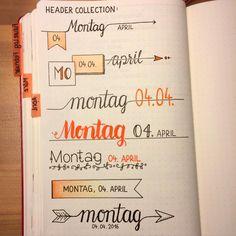 Date header doodle ideas