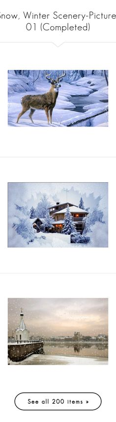 """""""Snow, Winter Scenery-Pictures 01 (Completed)"""" by kelsjax ❤ liked on Polyvore featuring pictures, backgrounds, icons, christmas, photos, fillers, scenery, home, home decor and frames"""