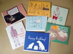 Image of La Familia Green Birthday Cards