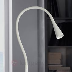 Weiße LED-Stehlampe Ion, biegbar sicher & bequem online bestellen bei Lampenwelt.de.