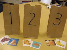 PHONOLOGICAL AWARENESS-SYLLABLES Reading: Syllable activities Put pictures in labelled bags according to the number of syllables you hear. This could be a center activity with a self check in a folder or under each bag. Reading Intervention, Reading Skills, Teaching Reading, Teaching Tools, Student Teaching, Learning, Kindergarten Literacy, Early Literacy, Classroom Activities