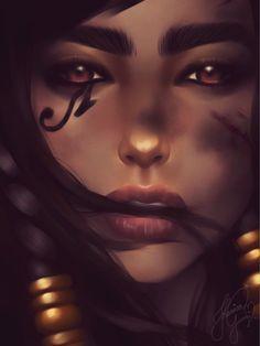 The Beauty of War - Pharah by JhessyJay.deviantart.com on @DeviantArt