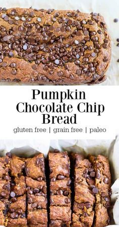 A moist delicious pumpkin bread scattered with mini little chocolate chips. Real food ingredients. Gluten free.