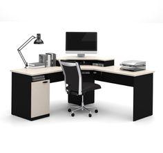 Amazon.com: Bestar Hampton Corner Computer Desk: Kitchen & Dining