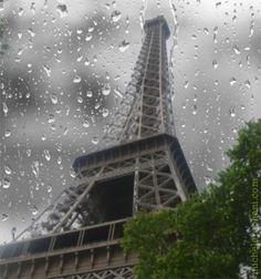 Beautiful rainy Paris