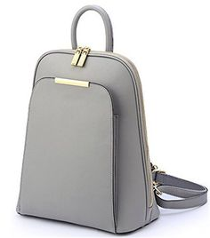 2016 New Fashion Pu+leather Backpack Women Student to Travel Bolso Mujer 5 Color Mochila Feminina Backpacks for Teenage Girls (Grey) - http://leather-handbags-shop.com/2016-new-fashion-puleather-backpack-women-student-to-travel-bolso-mujer-5-color-mochila-feminina-backpacks-for-teenage-girls-grey/