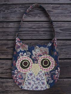 Owl Purse  Slouchy Hobo Bag by icebark on Etsy, $47.00