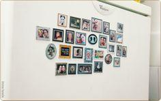inithings blog: mini-framed-refrigerator wall.... awsome
