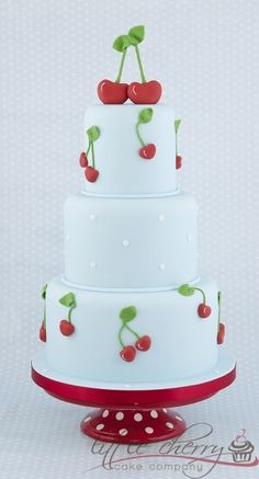 Cherry Wedding Cake By button-moon on CakeCentral.com