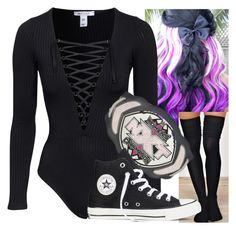"""""""Untitled #7139"""" by carmellahowyoudoin ❤ liked on Polyvore featuring Converse"""