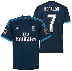 1dc6610a1 Adidas cristiano ronaldo real madrid uefa champions league third jersey  2015 16