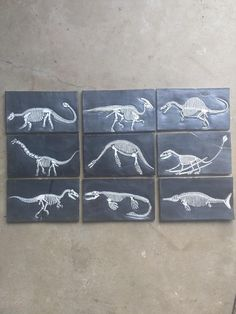 First post; my dino tiles made from ceramic : crafts