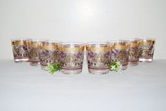 Vintage Glasses 50s Golden Gay Fad Signed by CheekyVintageCloset, $72.00