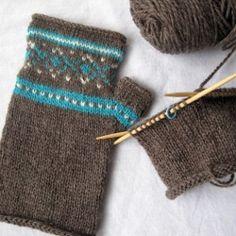 Fair Isle fingerless gloves for a Fair Isle novice